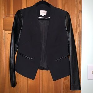 LOFT Leather Blazer